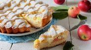 Фото рецепта Яблочный пирог с ванильным кремом
