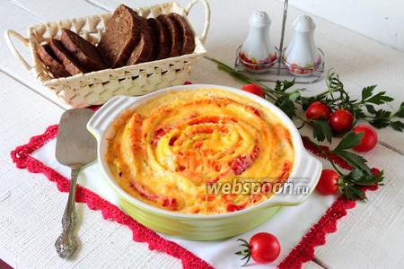 Фото рецепта Овощная запеканка из цукини