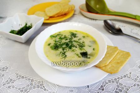 Сливочный суп с курицей и цукини