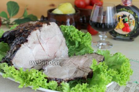 Мясо запечённое в вине