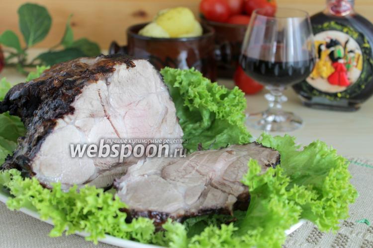 Фото Мясо запечённое в вине