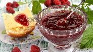 Фото рецепта Джем из ревеня и малины