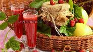 Фото рецепта Яблочно-малиновый сок на зиму