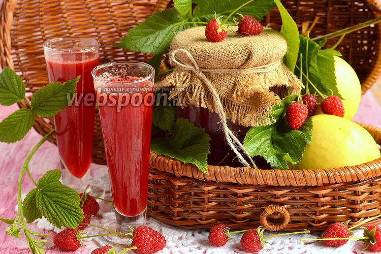 Фото Яблочно-малиновый сок на зиму
