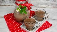 Фото рецепта Кисель молочный с какао