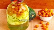 Фото рецепта Компот из цукини и жёлтой алычи