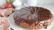 Фото рецепта Шоколадный пирог с яблоками