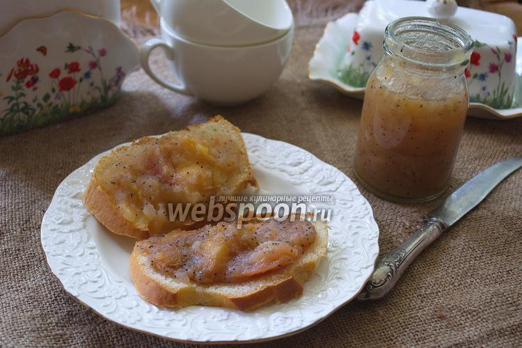Фото Грушевое варенье с маком в хлебопечке