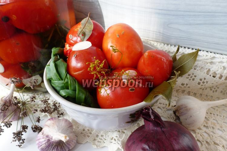 Фото Малосольные помидоры «По-деревенски»