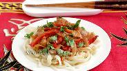 Фото рецепта Лапша со свининой по-азиатски