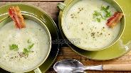Фото рецепта Картофельный суп-пюре с копченостями