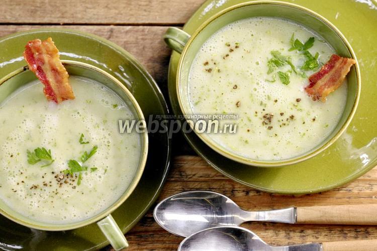 Фото Картофельный суп-пюре с копченостями