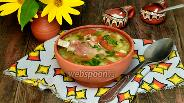 Фото рецепта Суп с бараньими рёбрышками и чечевицей в мультиварке