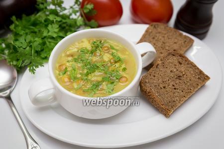 Рисово-чечевичный суп с лимоном