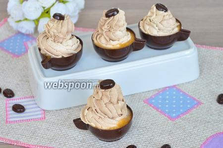 Шоколадные чашечки с кофейным кремом