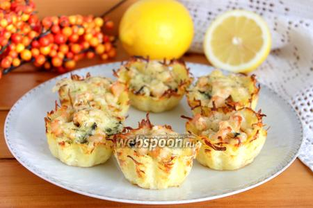 Тарталетки из картофеля с куриным филе