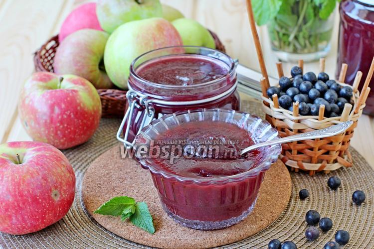 Фото Яблочный джем с чёрноплодной рябиной