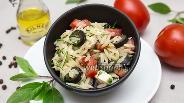 Фото рецепта Салат с орзо и сыром Фета