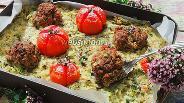 Фото рецепта Рёшти из цукини с мясными шариками