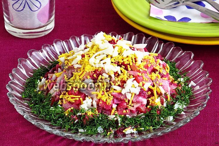 Фото Селёдочный салат по-шведски