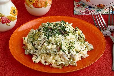 Селёдочный салат с яблоками