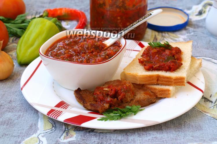 Фото Острый томатный соус к мясу