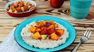 Фото рецепта Рисовая каша с фруктами в карамельном соусе