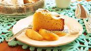Фото рецепта Кекс-пирог с персиками