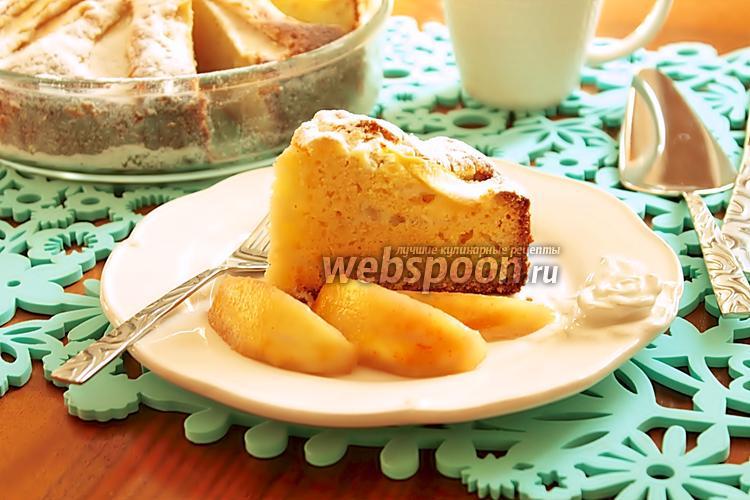 Фото Кекс-пирог с персиками
