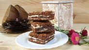 Фото рецепта Шоколадно-творожный мраморный пирог