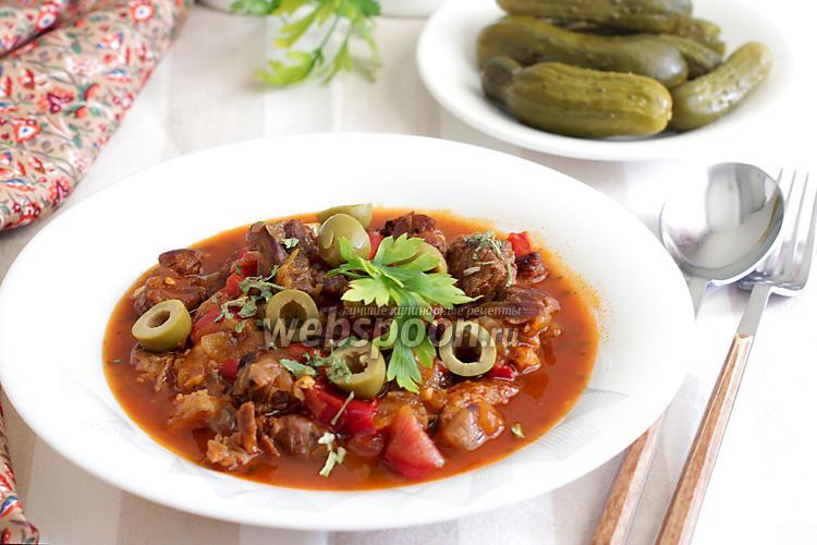 Фото Рагу из говядины со сладким перцем