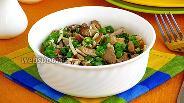 Фото рецепта Салат из сыроежек с сыром и зелёным луком
