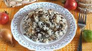 Фото рецепта Рисовый гарнир с вёшенками и тимьяном