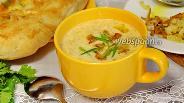 Фото рецепта Сливочный суп-пюре с лисичками