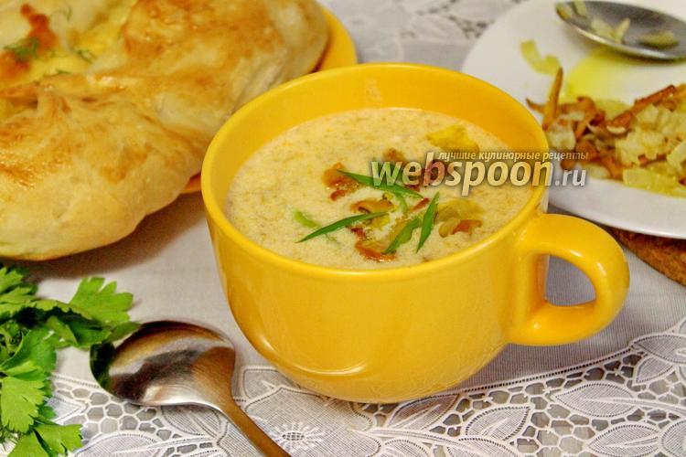 Фото Сливочный суп-пюре с лисичками