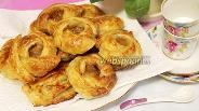 Фото рецепта Слойки-розочки с дынным вареньем