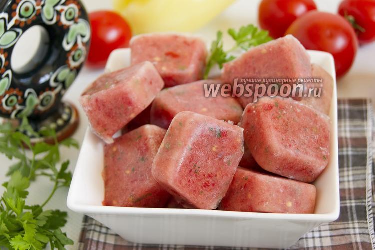 Фото Замороженное пюре из помидоров