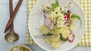 Фото рецепта Картофельный салат с редисом