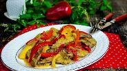 Фото рецепта Печень телячья, тушёная в сметане с овощами