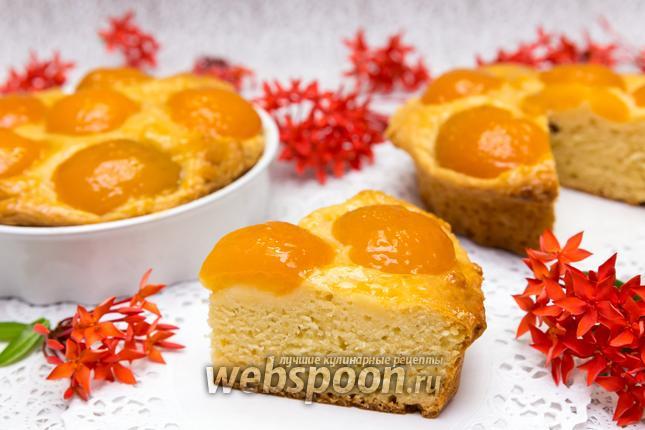 Фото Творожный пирог с абрикосами