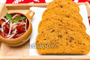 Томатный хлеб с вялеными помидорами