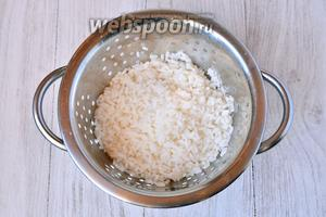 На начальном этапе следует подготовить все необходимые ингредиенты. Рис отвариваем до готовности и подсаливаем по вкусу.