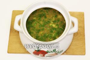 Суп рисовый с перепелиными яйцами готов. Приглашаю отведать. Готовьте с удовольствием и приятного вам аппетита!