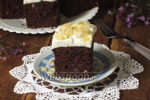 Шоколадный пирог с тыквой и миндалём