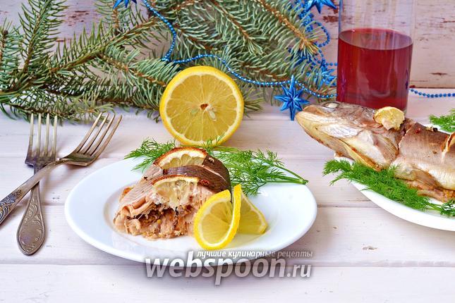 Фото Запечённая форель с горчицей и лимоном