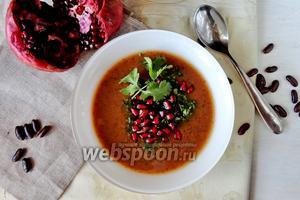 Фасолевый суп-пюре с гранатом