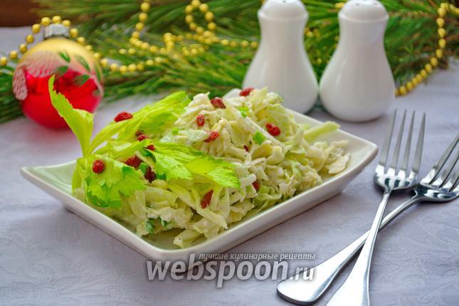 Фото Овощной салат с сельдереем и ягодами годжи