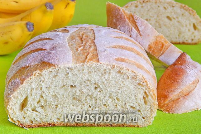 Фото Банановый белый хлеб