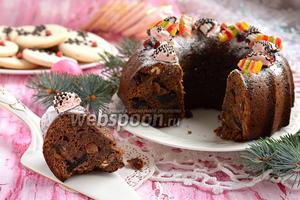 Влажный рождественский фруктовый кекс