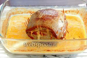 По готовности, из филе нити или зубочистки удаляем. Аппенцеллер-филе сервируем с картофелем, нарезая порционно. Приятного аппетита!